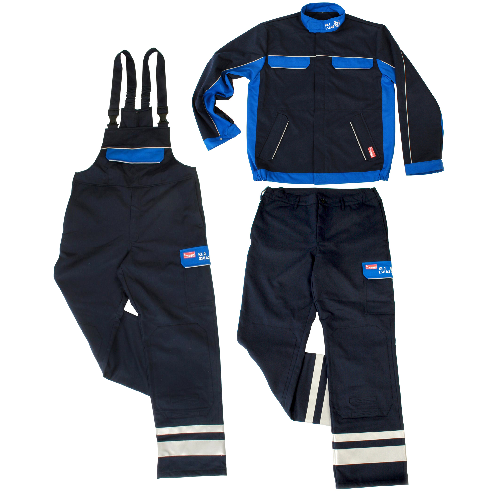 BSD COMFORT ARC FLASH JACKET, DUNGAREES AND TROUSERS - 22.0 CAL/CM2 - CLASS 2, 318 KJ