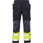 FRISTADS Trousers 2074 ATHS Hi-Vis Yellow/Navy - Class 1, 10,5 cal/cm<sup>2</sup>