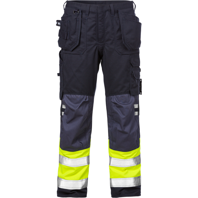 FRIS 2074 - FRISTADS Trousers 2074 ATHS Hi-Vis Yellow Navy