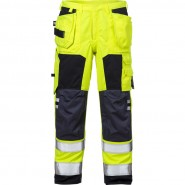 FRISTADS Trousers 2075 ATHS Hi-Vis Yellow/Navy &#8211; Class 1, 10,5 cal/cm<sup>2</sup>