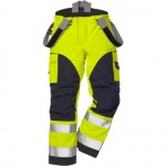 FRISTADS GORE-TEX Trousers 2089 GXH Hi-Vis Yellow/Navy - Class 2, 29.6 cal/cm<sup>2</sup>