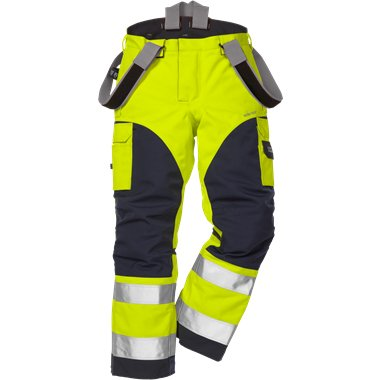 FRIS 2089 - FRISTADS GORE-TEX Trousers 2089 GXH Hi-Vis Yellow Navy