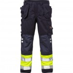 FRISTADS Trousers 2094 ATHP Hi-Vis Yellow/Navy - Class 1, 16.8 cal/cm<sup>2</sup>