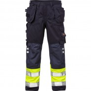 FRISTADS Trousers 2094 ATHP Hi-Vis Yellow/Navy &#8211; Class 1, 16.8 cal/cm<sup>2</sup>