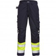 FRISTADS Trousers 2176 ATHS Hi-Vis Yellow/Navy &#8211; Class 1, 10.5 cal/cm<sup>2</sup>