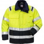 FRISTADS Winter Jacket 4185 ATHS Hi-Vis Yellow/Navy - Class 2, 10.5 cal/cm<sup>2</sup>