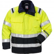 FRISTADS Winter Jacket 4185 ATHS Hi-Vis Yellow/Navy &#8211; Class 2, 10.5 cal/cm<sup>2</sup>