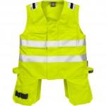 FRISTADS Waistcoat 5075 ATHS Hi-Vis Yellow – Class 1, 10.5 cal/cm<sup>2</sup>