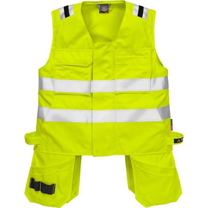 FRIS 5075 - FRISTADS Waistcoat 5075 ATHS Hi-Vis Yellow