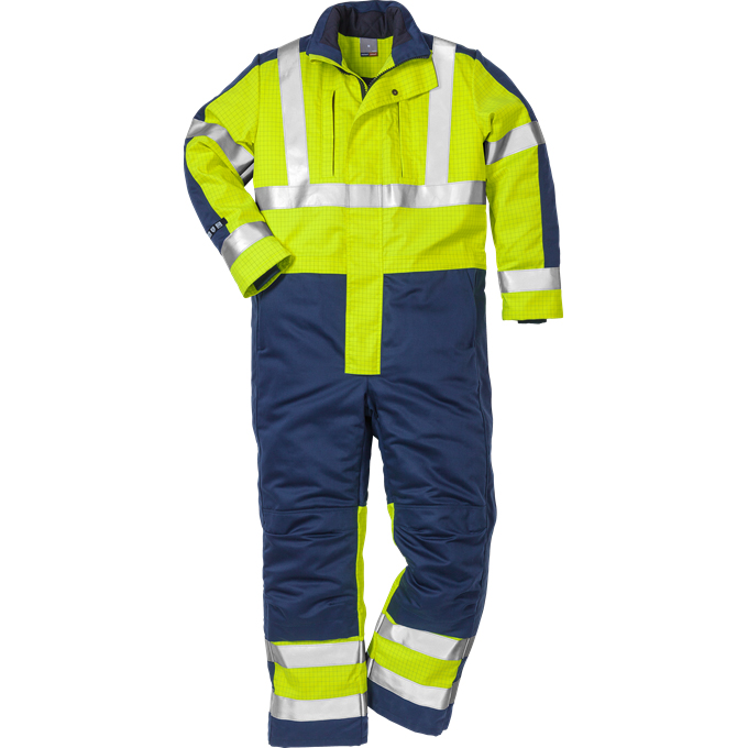 FRIS 8625 - FRISTADS Winter Coverall cl 3 8625 FWA Hi-Vis Yellow Navy