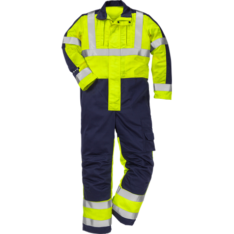 FRISTADS COVERALL FLAME HI-VIS CL 3 8626 FBPA - Yellow/Navy, Class 1, 13 cal/cm²