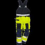 FRISTADS FLAMESTAT HI-VIS BIB CL 2 1075 ATHS - Yellow/Navy, Class 1, 10,5 cal/cm²