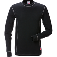 FRISTADS T-Shirt Flamestat long sleeve 7026 Black – Class 1