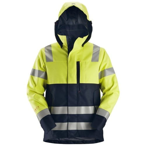 Snickers Workwear ProtecWork Waterproof Shell Jacket - High-Vis Class 2