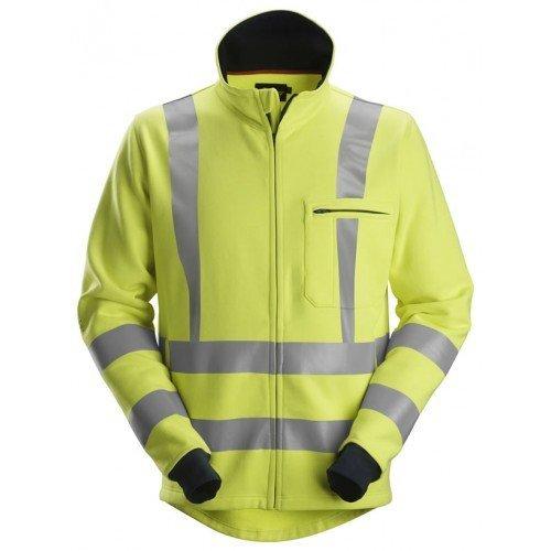 Snickers Workwear ProtecWork Full Zip Sweatshirt, High-Vis Class 3
